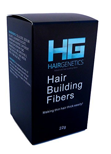 Hair Genetics® Advanced Keratin Hair Building Fibres Large 22g Dispenser, Natural, Thick & Textured, Amazing New Concept to Save Money, Professional Quality Fiber, Hair Loss Concealer Fibers For use by Men and Women. (Black)