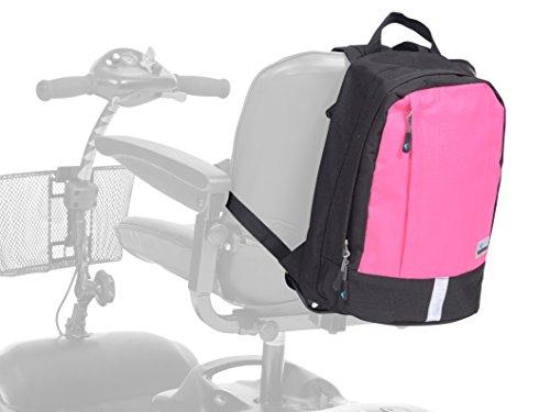 Ability Superstore - Zaino per sedia a rotelle o scooter, nero e rosa shocking
