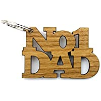 No 1 Dad Gifts Keyring - Father's Day Birthday Christmas Ideas