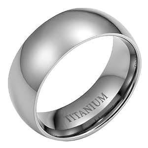 New Mens Willis Judd 8mm Titanium Wedding Band Ring In Black Velvet Ring Box