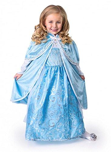 Princess Ice Kostüm - Little Abenteuer Ice Princess Umhang Mädchen Kostüm-S/M (1-5Jahre)