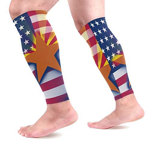 dfegyfr USA Arizona State Flag Sports Calf Compression Sleeves Leg Compression Calf Sleeve for Runners Men Women (1 Pair)