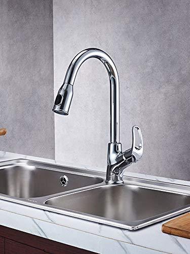 JONTON Küchenarmatur heiß und kalt ziehen Wasserhahn waschbecken Wasserhahn kann gedreht Werden
