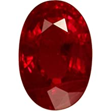 Tejvij And Sons 9.25 Ratti Crystal Certified Ruby Manik Gemstone For Unisex - Red