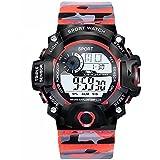 Acnos Brand - A Digital Watch Shockproof Multi-Functional Automatic Army 4 Color Army Strap Waterproof Digital Sports Watch f
