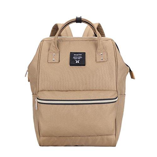 CHENGYANG Mädchen Jungen Schultasche Canvas Rucksack Handtasche Wanderrucksack Reisetasche 12 Zoll Laptoprucksack Khaki