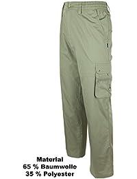 SOUNON® Herren Cargohose, Cargo Pants aus 100 % Baumwolle in 5 Trendfarben, Größe M bis 3XL