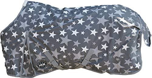 HKM 75499500.0036 Weidedecke Stars 600D mit 300g Wattefüllung, grau