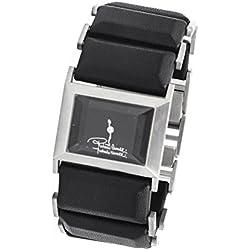 Roberto Cavalli Reloj braccialato de moda piel Black y acero
