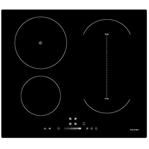 41RTjqtZL5L. SS500  - Cookology CIB605 Induction Hob | 60cm, Black, Built-in, Bridge Zone