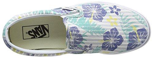 Vans Unisex-Erwachsene Classic Slip-On Sneaker Mehrfarbig (aloha Stripes/true Blue/true White)