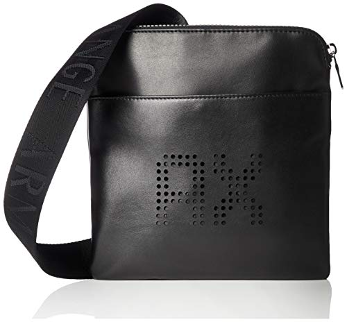 Armani Exchange Perforated Leather, Besace homme, Noir (Black), 20x13x26 cm (B x H T)