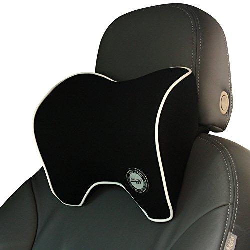 Nackenkissen Auto, Nackenstütze Kissen, Kopfstützen Nackenstützkissen Kopfkissen für Autositz mit Memory Foam - Schwarz