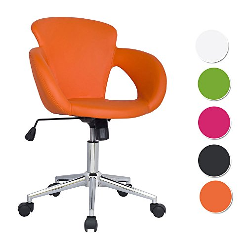SixBros. Design Taburete Giratorio Silla de Oficina Naranja - M-65335-1/2136