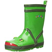 Kidorable Original Branded Frog Rubber Rain Boots Wellies for Little Girls Boys Children Toddlers (UK 13)