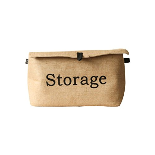 Spatial Element Aufbewahrungsbox, Baumwolle Und Leinen Würfel Mit Einer Faltschachtel Mit Einer Lederschnalle Aufbewahrungsbox,Small (Leinwand-storage-würfel)
