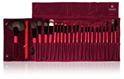 SHANY Cosmetics NY Collection Pro Brush Kit, 13 Ounce (22 Piece Natural BJF Goat Bristles with Purple Crocodile Case)