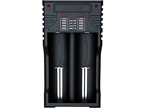 KLARUS K2 Intelligent USB multifunction 26650 22650 18650 lithium battery charger compatibility 18490 18350 17670 17500 16340 14500 10440 16340 (RCR123A) and AA AAA AAAA rechargeable Ni-MH/NI-CD