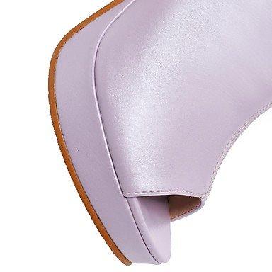 LFNLYX Sandales femmes Printemps Été Automne Autres Bureau extérieur en PU & Carrière Casual Talon bleu violet rose Autres Autres Blue