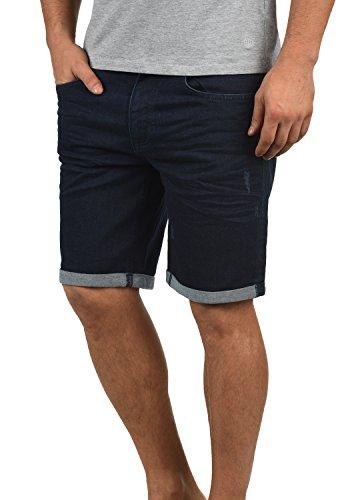 Blend Luke Herren Jeans Shorts Kurze Denim Hose Mit Destroyed-Optik Aus Stretch-Material Slim Fit, Größe:XL, Farbe:Denim Unwashed Darkblue (76211)
