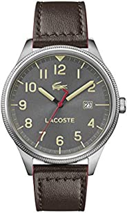 Lacoste Mens Quartz Watch, Analog Display and Leather Strap 2011020