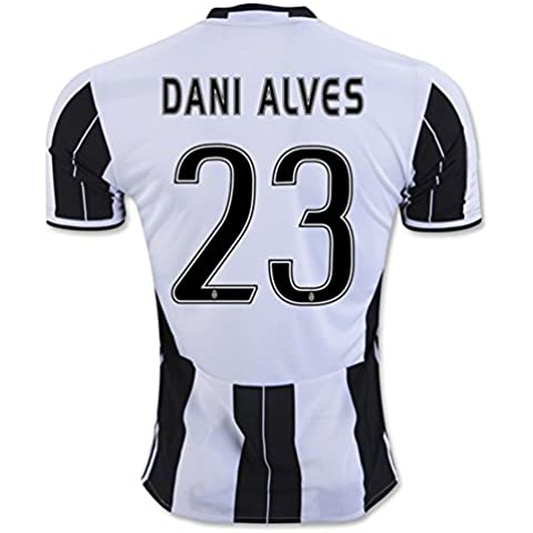 20162017Juventus FC Camiseta 23Dani Alves casa fútbol Jersey Kit en Zebra, hombre, cebra,