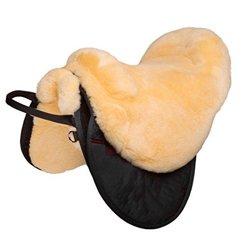 CHRIST Fellsattel Cloud Spezial hochwertiger, baumloser Lammfell-Sattel, Bare-Back-pad aus echtem Fell, handgefertigter…