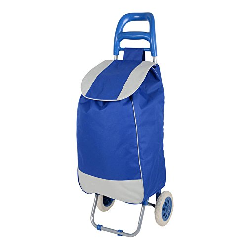 Folding Essential Shopping Trolley-Luggage-Bag-With-2Wheels (Only any 1 Pcs Trolley & Bag) (Color May be Very) BY Krishyam  available at amazon for Rs.1299