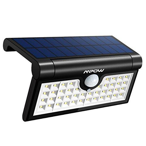 Mpow 42LED Plegable Luz Solar,Sensor de Movimiento,Luz Exterior Portátil,Luz de Pared Brillante,Ángulo de Detección de 120°,Gran Luz Exterior para Acampar,Jardín,Calzada,Cercado,Garaje