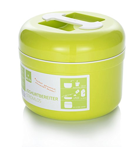 My.Yo Joghurtbereiter ohne Strom, in Limette + 2 Beutel Bio-Fermente gratis! (Strom Machen)