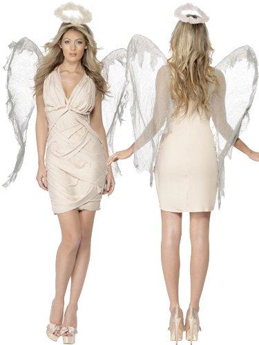 Smiffys Karneval Damen Kostüm gefallener Engel sexy Kleid Größe M 40/42