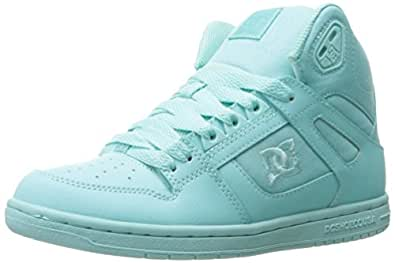 DC - Les femmes rebond Hightop Salut Chaussures, EUR: 37, Black/Aqua