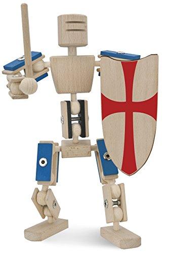 rewoodo Helden aus Holz - Ritter - Holzspielzeug 2.0 Baukasten Holzbaukasten Actionfiguren Holz Metall Jungen Mädchen ab 3 Jahren