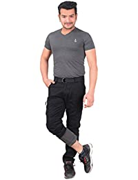 Krystle Black Men'S Casual Outdoor Fleece Lined Warm Cargo Pants