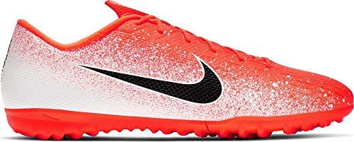 Nike Vapor 12 Academy Tf, Scarpe da Calcetto Indoor Unisex-Adulto, Multicolore (Hyper Crimson/Black/White 000), 44 EU