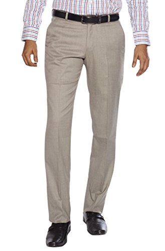 Flags Men's Formal Trouser PV Stretch Fawn Colour (001) Size 38