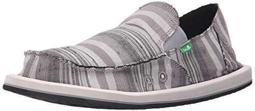 Sanuk Donny Leinwand Slipper Grey Vintage Denim