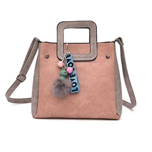 HAOXIAOZI Damen Tasche Mode Einfache Tasche Damen Handtasche Kann Schulter Messenger Bag Sein,Pink