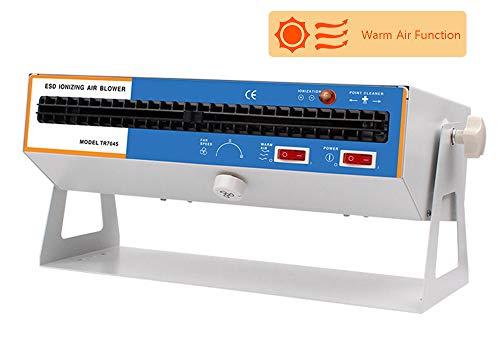 Hanchen - Soplador de aire ionizante, eliminador electrostático industrial, soporte de doble uso, amplia...