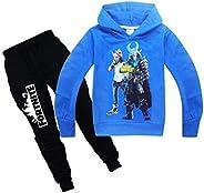 Fortnite Hoodie Crewneck Pocket Hooded Sweatshirt Pant Set For Kids