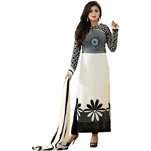 Ethnic Empire Designer White Georgette Embroidery Bollywood Suits