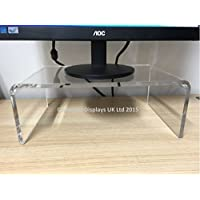 Perspex Clear Acrylic Computer Monitor Stand/Elevator - 8mm Thick Acrylic