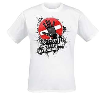Frei.Wild - Farbe Zeigen T-Shirt, weiss, Grösse S