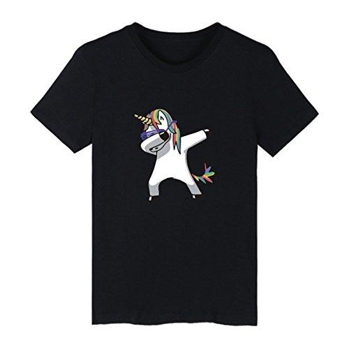 2b4c22e07 SIMYJOY Pärchen Dabbing Einhorn T-Shirt Entzückende Cartoon Dab Tanzen Tee  Strassenmode Niedliche Tier Top