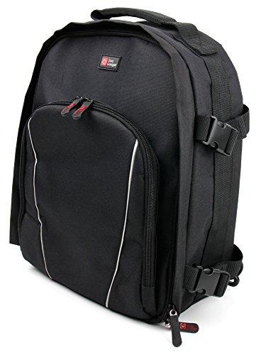 Schwarzer Action Kamera Rucksack mit viel Platz für Zubehör für Vemont 1080P 12 MP sowie VICTURE AC200 / AC400 / AC600 - von DuraGadget