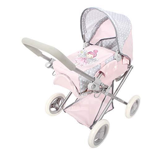 ColorBaby -  Cochecito de muñecas plegable 3 en 1 Baby Hadas, Rosa 44920