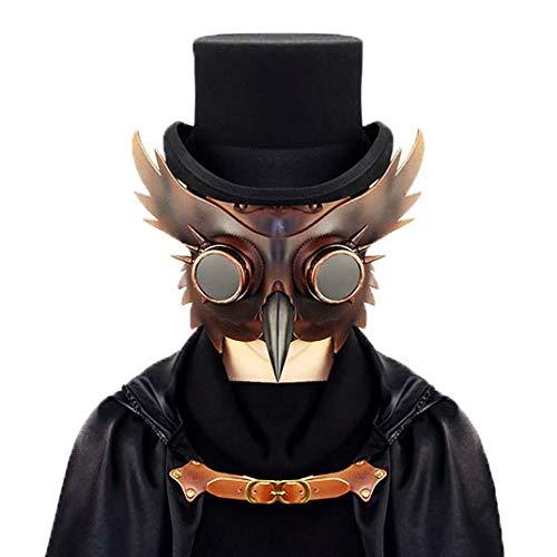 Arzt Kostüm Dämon - Yuyudou Plague Arzt Maske, Halloween Cosplay Kostüm für Erwachsene, Kostüm Steampunk Gothic Party Requisiten