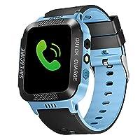ANYIKE Kids Smart Watch, Smart Watch for Girls Boys 1.44 Inch Touch Screen SOS Alarm Flashlight Digital Camera Children Smartwatches (Blue A#)