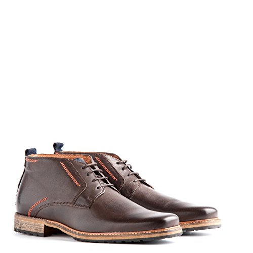 Travelin' London Leder Chukka Boots - Business Schuhe mit Schnürsenkel - Braun EU 47 (Braune Leder Herren Schuhe)