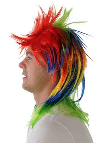 (Perücke Rainbow Lametta Punk)